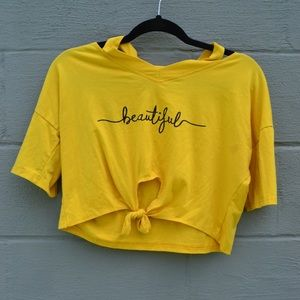 """Beautiful"" Crop top"